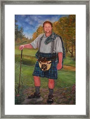 Scottish Golfer Framed Print by Phyllis Barrett