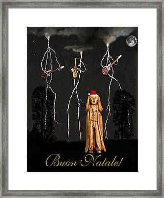 Scream Buon Natale Framed Print by Eric Kempson