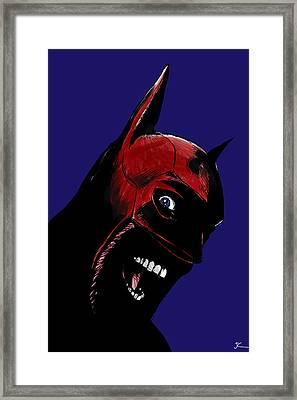 Screaming Superhero Framed Print by Giuseppe Cristiano