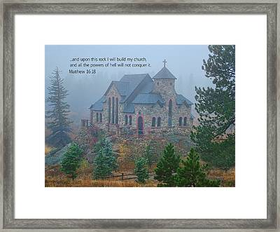 Scripture And Picture Matthew 16 18 Framed Print by Ken Smith