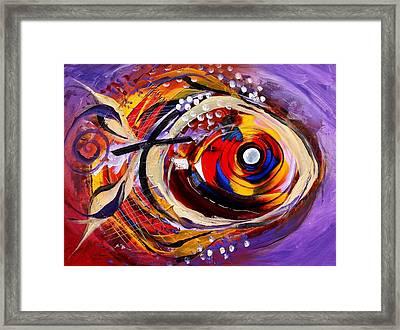 Scripture Fish Framed Print by J Vincent Scarpace