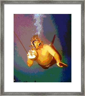 Scuba Diver Framed Print by Charles Shoup