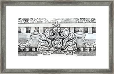 Sculpture Design Framed Print by Shashi Kumar