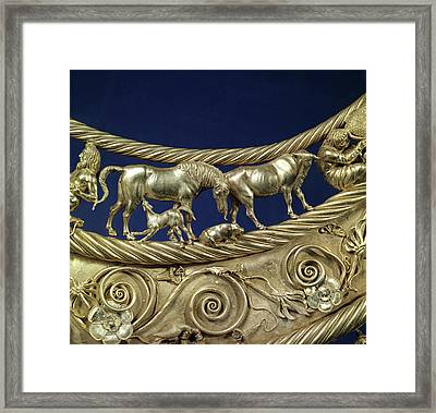 Scythian Gold Ornament, 4th Century Bc Framed Print by Ria Novosti