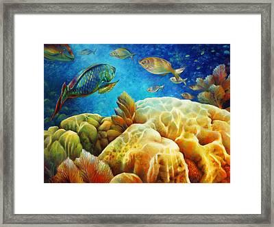 Sea Escape I - Color Queens Framed Print by Nancy Tilles