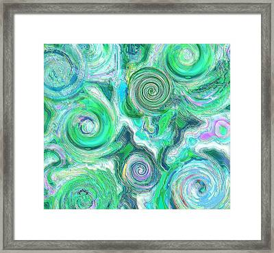 Sea Foam Framed Print by Paintings by Gretzky