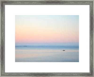 Sea Fog Framed Print by Sonya Kanelstrand