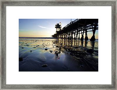 Sea Glass And Flags Framed Print by Kevin Moore