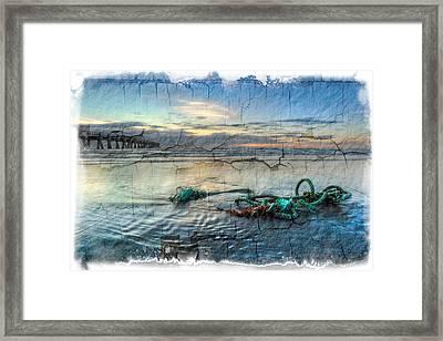Sea Knot Framed Print by Debra and Dave Vanderlaan