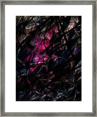 Sea Monster Framed Print by Rachel Christine Nowicki