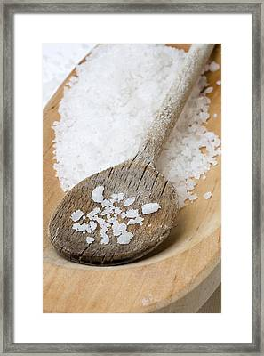 Sea Salt Framed Print by Frank Tschakert