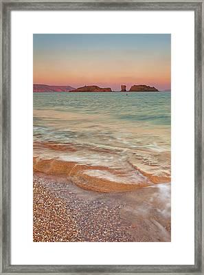 Sea Waves, Sitia,greece Framed Print by © Mitrakoulis Alexandros
