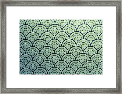 Seamless Wave Pattern Framed Print by Hirokazu YAMANOUCHI