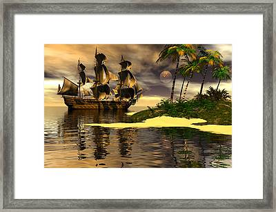 Searching For Fresh Water Framed Print by Claude McCoy