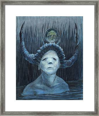 Searching In The Big Blue    Framed Print by Ethan Harris