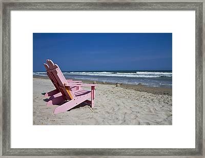 Seas The Chair  Framed Print by Betsy Knapp