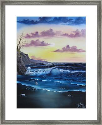 Seascape Sunset Framed Print by Kevin Hill