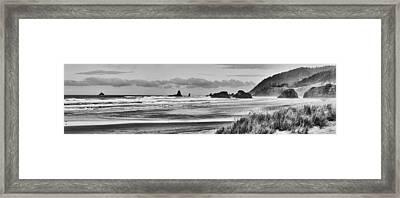 Seaside By The Ocean Framed Print by James Heckt