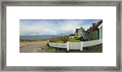 Seaside House Framed Print by Jan Faul