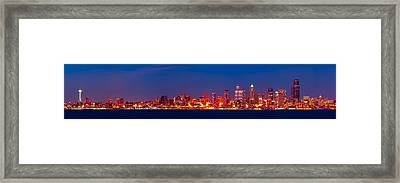 Seattle  Framed Print by A A