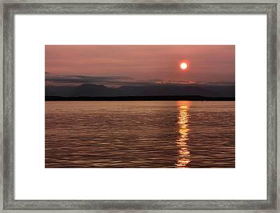 Seattle Sunset Framed Print by Kristin Elmquist
