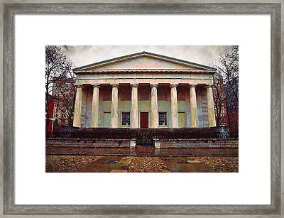 Second Bank Of The United States Philadelphia Pa Framed Print by Bill Cannon