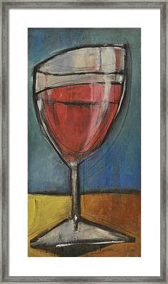 Second Glass Of Red Framed Print by Tim Nyberg