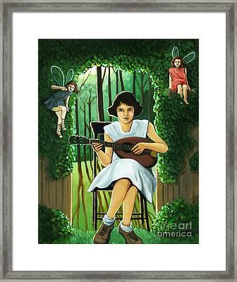 Secret Garden Fantasy Fairy Framed Print by Linda Apple