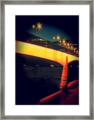 Secrets Of London Bridge Framed Print by Jasna Buncic