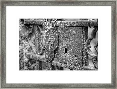 Secured Forever Framed Print by Heather Applegate