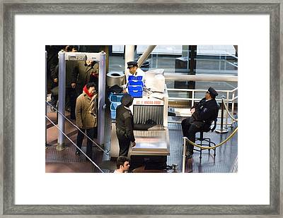 Security Checks At Washington Dc Museum Framed Print by Mark Williamson