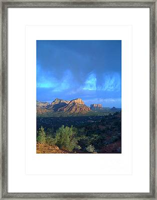 Sedona Clouds Framed Print by Nina Prommer