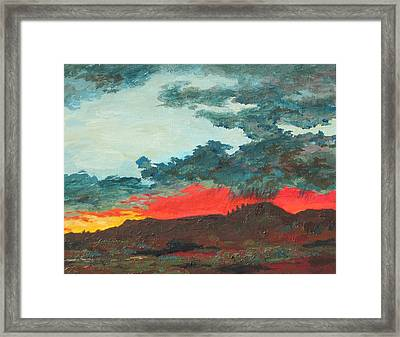 Sedona Sunset Framed Print by Sandy Tracey