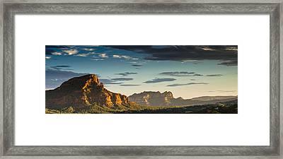 Sedona Sunset Framed Print by Scott Faunce