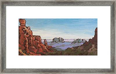 Sedona Vista Framed Print by Sandy Tracey