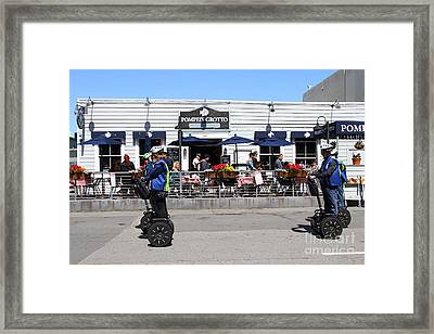 Segway Patrol At Pompeis Grotto Restaurant . Fishermans Wharf . San Francisco California . 7d14198 Framed Print by Wingsdomain Art and Photography