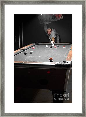 Selective Billiards Framed Print by Lynda Dawson-Youngclaus