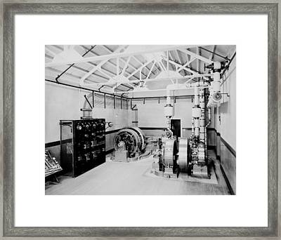 Self-contained Electric Power Station Framed Print by Everett