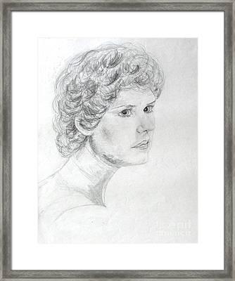 Self Portrait Framed Print by Julie Coughlin