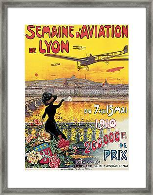 Semaine D'aviation De Lyon Framed Print by Charles Tichon