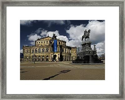 Semper Opera House Dresden - A Beautiful Sight Framed Print by Christine Till