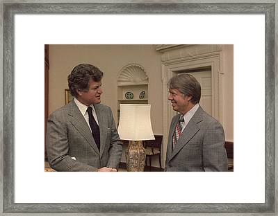 Senator Edward Kennedy 1932-2009 Meets Framed Print by Everett