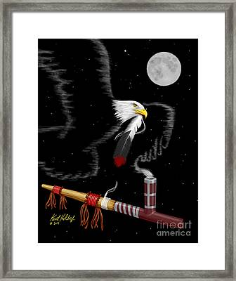 Sending A Feather To My Friend Framed Print by Kurt Holdorf