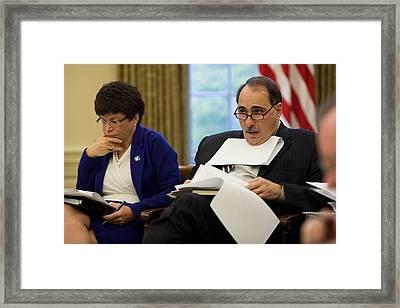 Senior Advisors Valerie Jarrett Framed Print by Everett