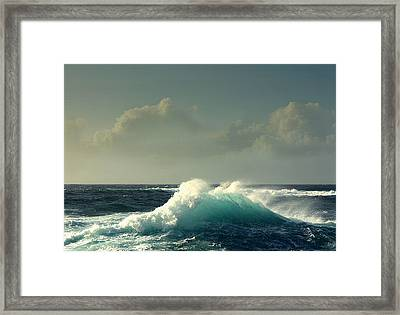 Sennen Surf Seascape Framed Print by Linsey Williams