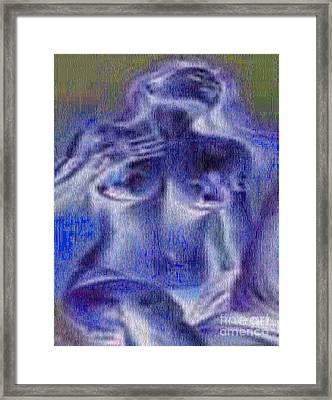 Sensual Yemaya Framed Print by Liz Loz