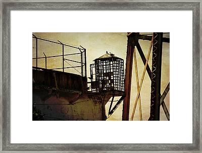 Sentry Box In Alcatraz Framed Print by RicardMN Photography