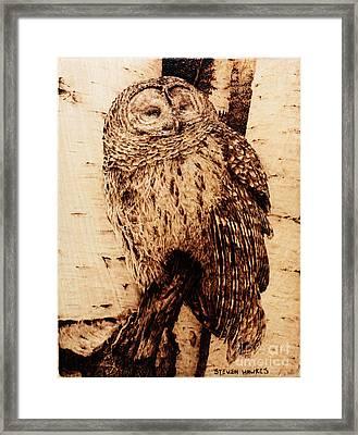 Sentry Framed Print by Steven Hawkes