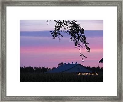 September 16 Sunrise Framed Print by Tina M Wenger