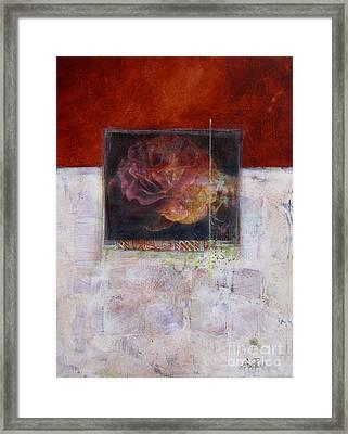 September Rose Framed Print by Ann Powell